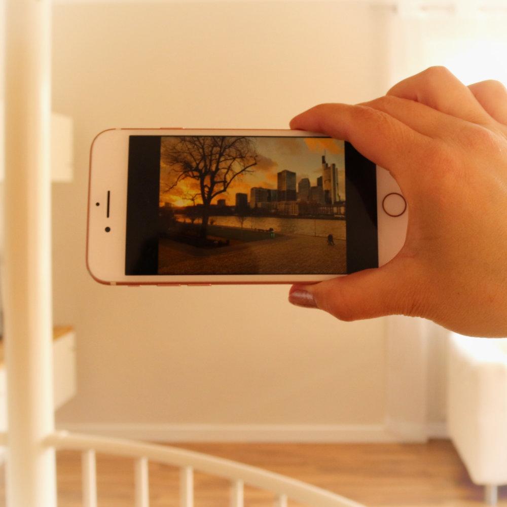 Bilderposition mit dem Handy planen