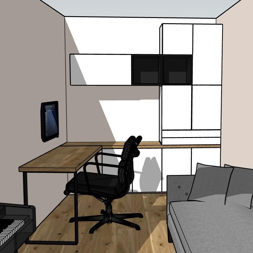 Home-Office in Frankfurt, endgültiger Entwurf