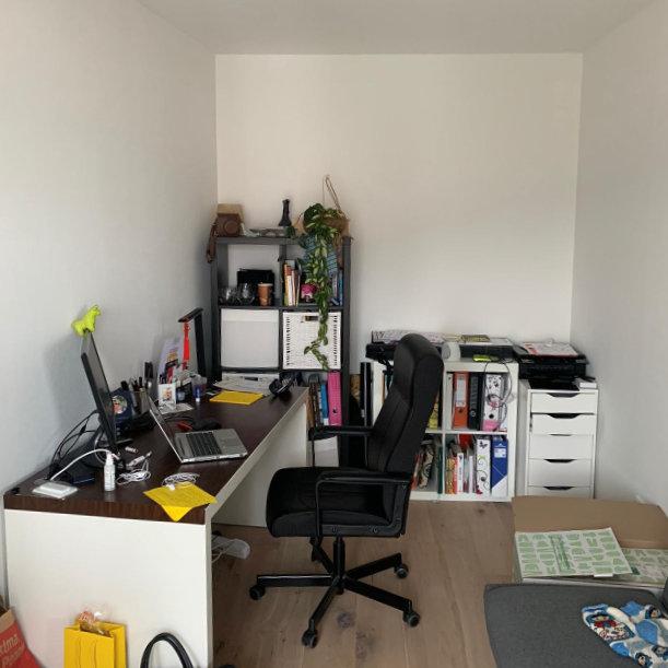 Home-Office in Frankfurt, vorher