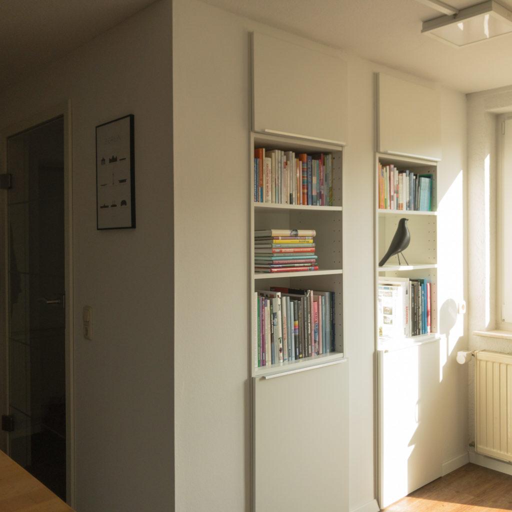 Hack 6, Büro mit IKEA-Küche in die Wand integriert