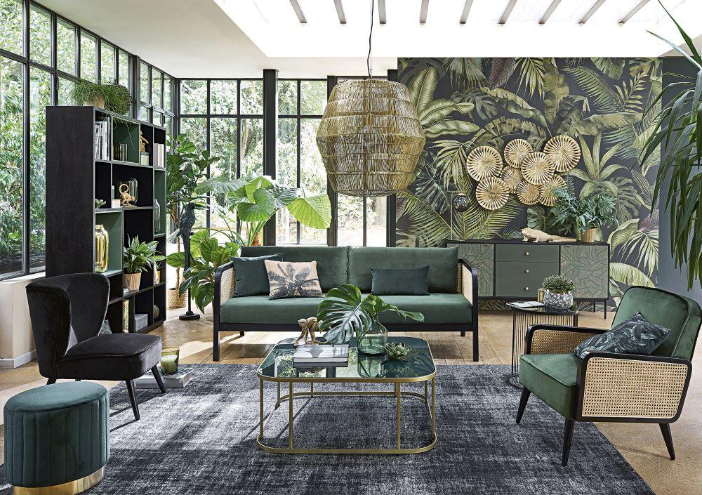 Wie Farben wirken: Grün   Wohnzimmer mit grüner Einrichtung