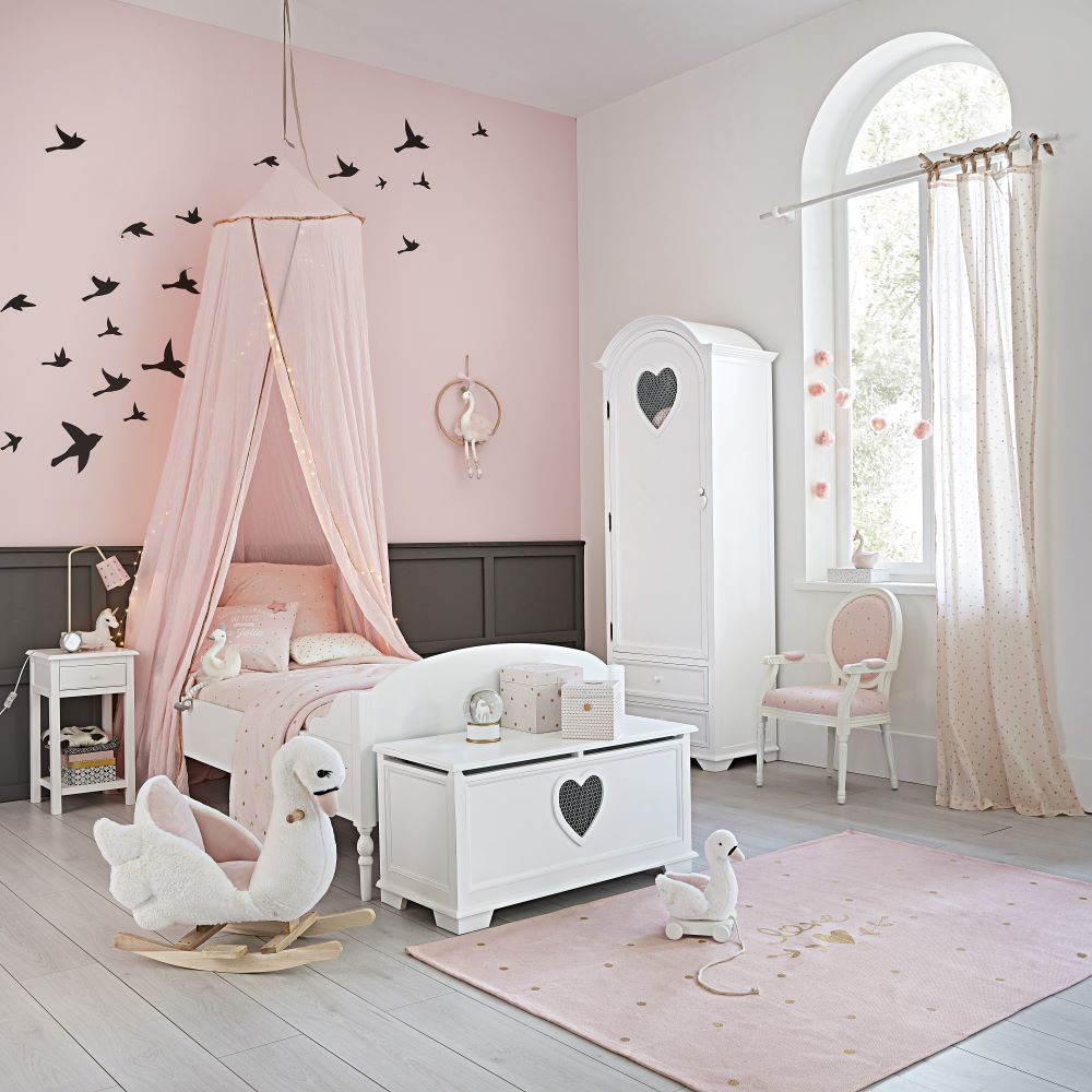 Wie Farben wirken: Rosa   Kinderzimmer mit rosafarbener Wand